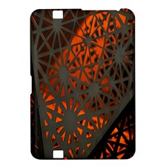 Abstract Lighted Wallpaper Of A Metal Starburst Grid With Orange Back Lighting Kindle Fire HD 8.9