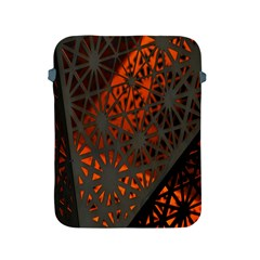 Abstract Lighted Wallpaper Of A Metal Starburst Grid With Orange Back Lighting Apple Ipad 2/3/4 Protective Soft Cases