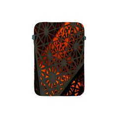 Abstract Lighted Wallpaper Of A Metal Starburst Grid With Orange Back Lighting Apple Ipad Mini Protective Soft Cases