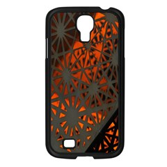 Abstract Lighted Wallpaper Of A Metal Starburst Grid With Orange Back Lighting Samsung Galaxy S4 I9500/ I9505 Case (black)