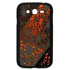 Abstract Lighted Wallpaper Of A Metal Starburst Grid With Orange Back Lighting Samsung Galaxy Grand Duos I9082 Case (black)