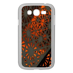 Abstract Lighted Wallpaper Of A Metal Starburst Grid With Orange Back Lighting Samsung Galaxy Grand Duos I9082 Case (white)