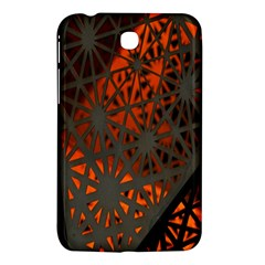Abstract Lighted Wallpaper Of A Metal Starburst Grid With Orange Back Lighting Samsung Galaxy Tab 3 (7 ) P3200 Hardshell Case