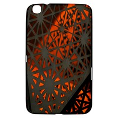 Abstract Lighted Wallpaper Of A Metal Starburst Grid With Orange Back Lighting Samsung Galaxy Tab 3 (8 ) T3100 Hardshell Case