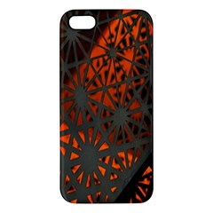 Abstract Lighted Wallpaper Of A Metal Starburst Grid With Orange Back Lighting iPhone 5S/ SE Premium Hardshell Case