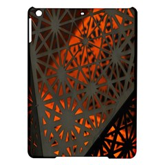 Abstract Lighted Wallpaper Of A Metal Starburst Grid With Orange Back Lighting iPad Air Hardshell Cases