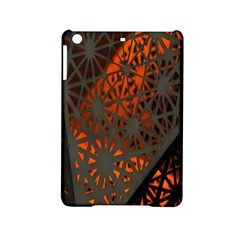 Abstract Lighted Wallpaper Of A Metal Starburst Grid With Orange Back Lighting iPad Mini 2 Hardshell Cases