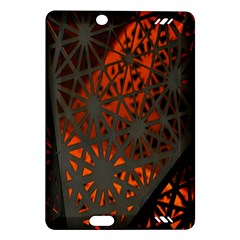 Abstract Lighted Wallpaper Of A Metal Starburst Grid With Orange Back Lighting Amazon Kindle Fire Hd (2013) Hardshell Case