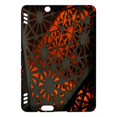 Abstract Lighted Wallpaper Of A Metal Starburst Grid With Orange Back Lighting Kindle Fire Hdx Hardshell Case