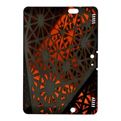 Abstract Lighted Wallpaper Of A Metal Starburst Grid With Orange Back Lighting Kindle Fire Hdx 8 9  Hardshell Case