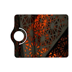 Abstract Lighted Wallpaper Of A Metal Starburst Grid With Orange Back Lighting Kindle Fire Hd (2013) Flip 360 Case