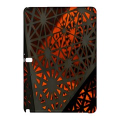 Abstract Lighted Wallpaper Of A Metal Starburst Grid With Orange Back Lighting Samsung Galaxy Tab Pro 10.1 Hardshell Case