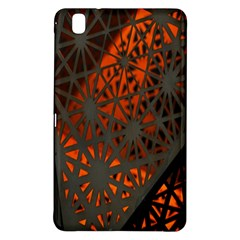 Abstract Lighted Wallpaper Of A Metal Starburst Grid With Orange Back Lighting Samsung Galaxy Tab Pro 8 4 Hardshell Case
