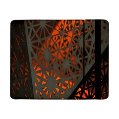 Abstract Lighted Wallpaper Of A Metal Starburst Grid With Orange Back Lighting Samsung Galaxy Tab Pro 8 4  Flip Case
