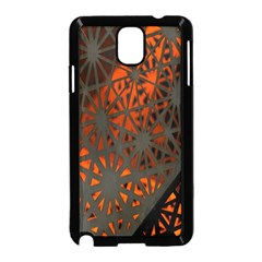 Abstract Lighted Wallpaper Of A Metal Starburst Grid With Orange Back Lighting Samsung Galaxy Note 3 Neo Hardshell Case (Black)