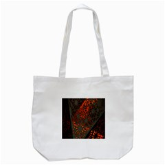 Abstract Lighted Wallpaper Of A Metal Starburst Grid With Orange Back Lighting Tote Bag (White)