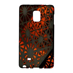 Abstract Lighted Wallpaper Of A Metal Starburst Grid With Orange Back Lighting Galaxy Note Edge