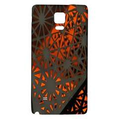 Abstract Lighted Wallpaper Of A Metal Starburst Grid With Orange Back Lighting Galaxy Note 4 Back Case