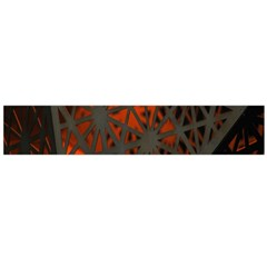 Abstract Lighted Wallpaper Of A Metal Starburst Grid With Orange Back Lighting Flano Scarf (large)