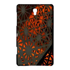 Abstract Lighted Wallpaper Of A Metal Starburst Grid With Orange Back Lighting Samsung Galaxy Tab S (8.4 ) Hardshell Case
