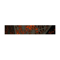 Abstract Lighted Wallpaper Of A Metal Starburst Grid With Orange Back Lighting Flano Scarf (Mini)