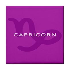 Zodiac Capricorn Purple Tile Coasters