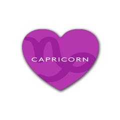 Zodiac Capricorn Purple Rubber Coaster (Heart)