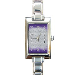 Purple Square Frame With Mosaic Pattern Rectangle Italian Charm Watch