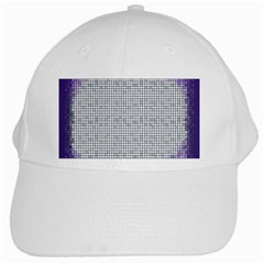 Purple Square Frame With Mosaic Pattern White Cap