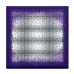 Purple Square Frame With Mosaic Pattern Tile Coasters
