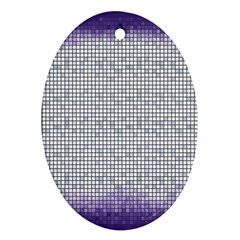 Purple Square Frame With Mosaic Pattern Ornament (oval)