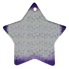 Purple Square Frame With Mosaic Pattern Ornament (star)