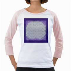 Purple Square Frame With Mosaic Pattern Girly Raglans