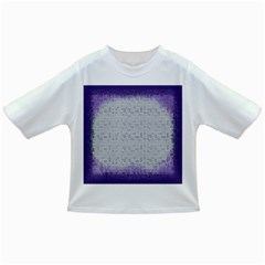 Purple Square Frame With Mosaic Pattern Infant/toddler T Shirts
