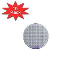 Purple Square Frame With Mosaic Pattern 1  Mini Magnet (10 pack)
