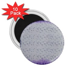 Purple Square Frame With Mosaic Pattern 2 25  Magnets (10 Pack)