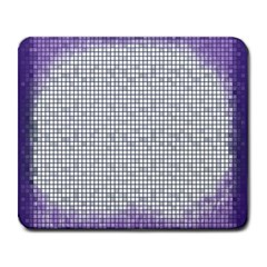 Purple Square Frame With Mosaic Pattern Large Mousepads