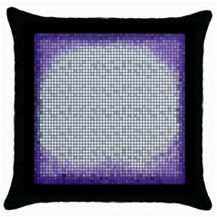 Purple Square Frame With Mosaic Pattern Throw Pillow Case (Black)
