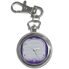 Purple Square Frame With Mosaic Pattern Key Chain Watches