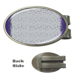 Purple Square Frame With Mosaic Pattern Money Clips (oval)