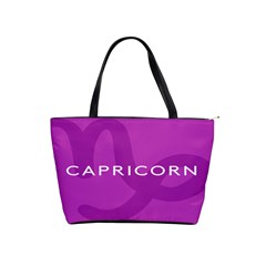 Zodiac Capricorn Purple Shoulder Handbags