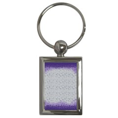 Purple Square Frame With Mosaic Pattern Key Chains (rectangle)