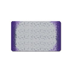 Purple Square Frame With Mosaic Pattern Magnet (Name Card)