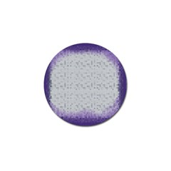 Purple Square Frame With Mosaic Pattern Golf Ball Marker
