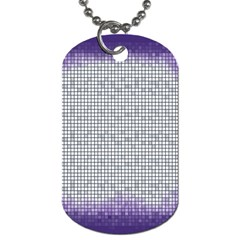 Purple Square Frame With Mosaic Pattern Dog Tag (two Sides)