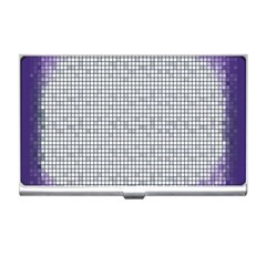 Purple Square Frame With Mosaic Pattern Business Card Holders