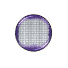 Purple Square Frame With Mosaic Pattern Hat Clip Ball Marker