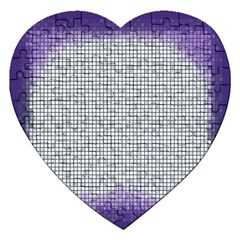 Purple Square Frame With Mosaic Pattern Jigsaw Puzzle (heart)