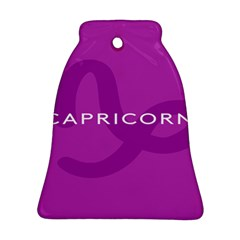 Zodiac Capricorn Purple Ornament (Bell)