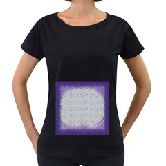 Purple Square Frame With Mosaic Pattern Women s Loose Fit T Shirt (black)